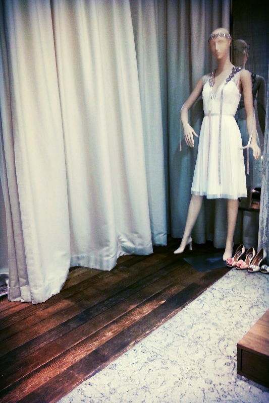 wedding dress shopping, anthropologie (sonya kovacic)