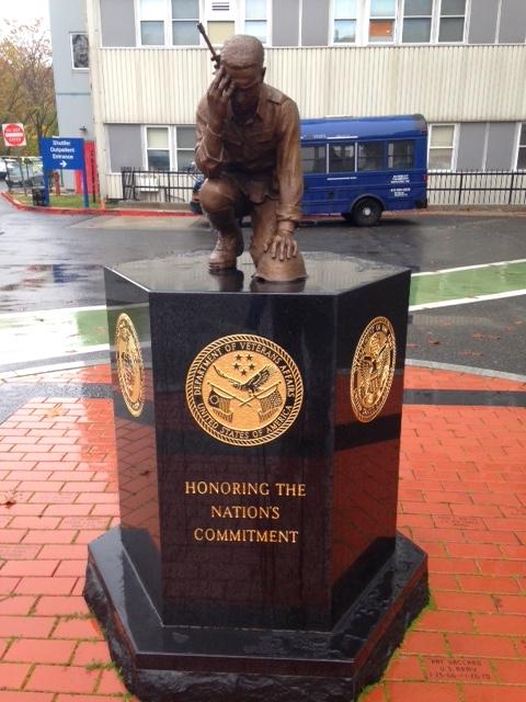 statue outside the VA hospital, jp(brian mclean)