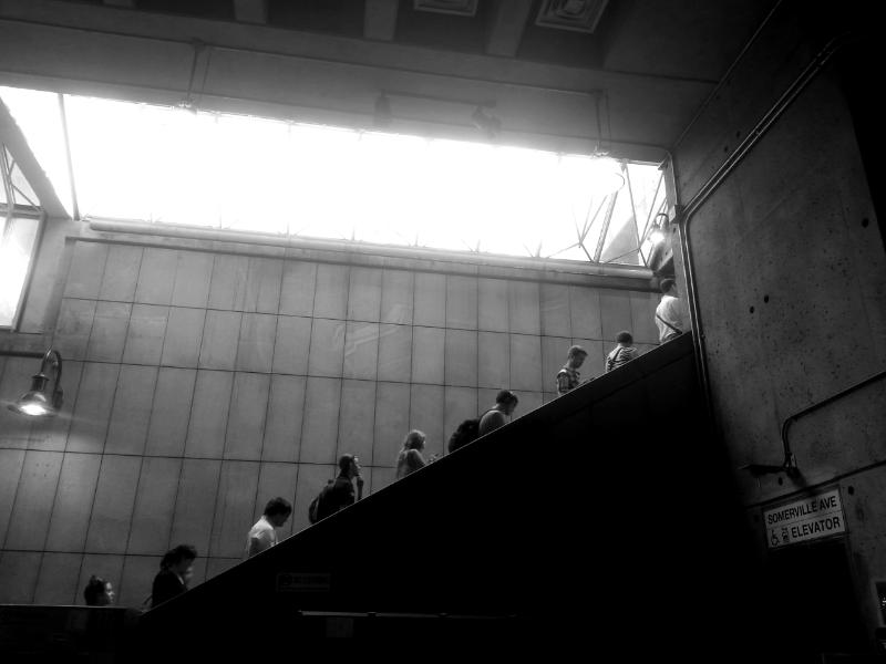 escalator at  porter square   (sonya kovacic)