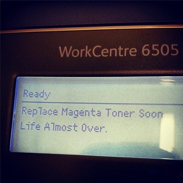 overdramatic printer  (sonya kovacic)