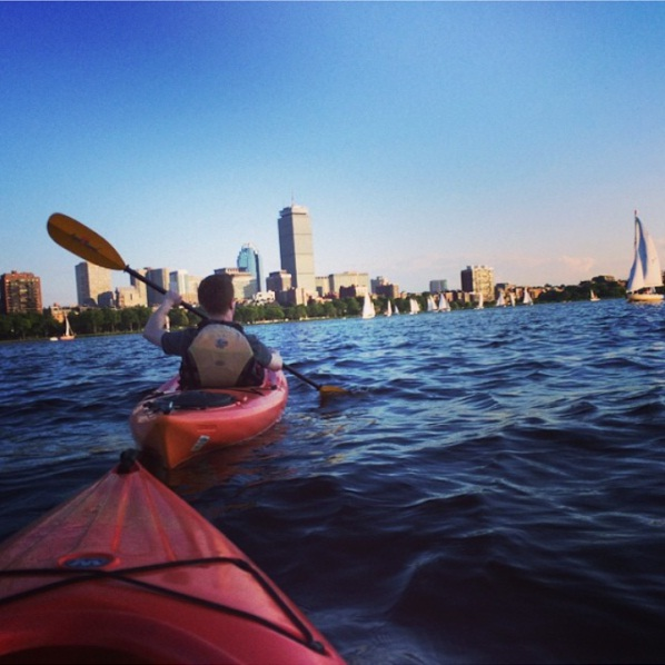 kayaking the charles  (sam lemansky)  *