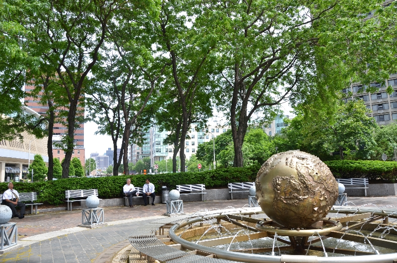 galaxy: earth sphere  by joe davis, in kendall square  (sonya kovacic)