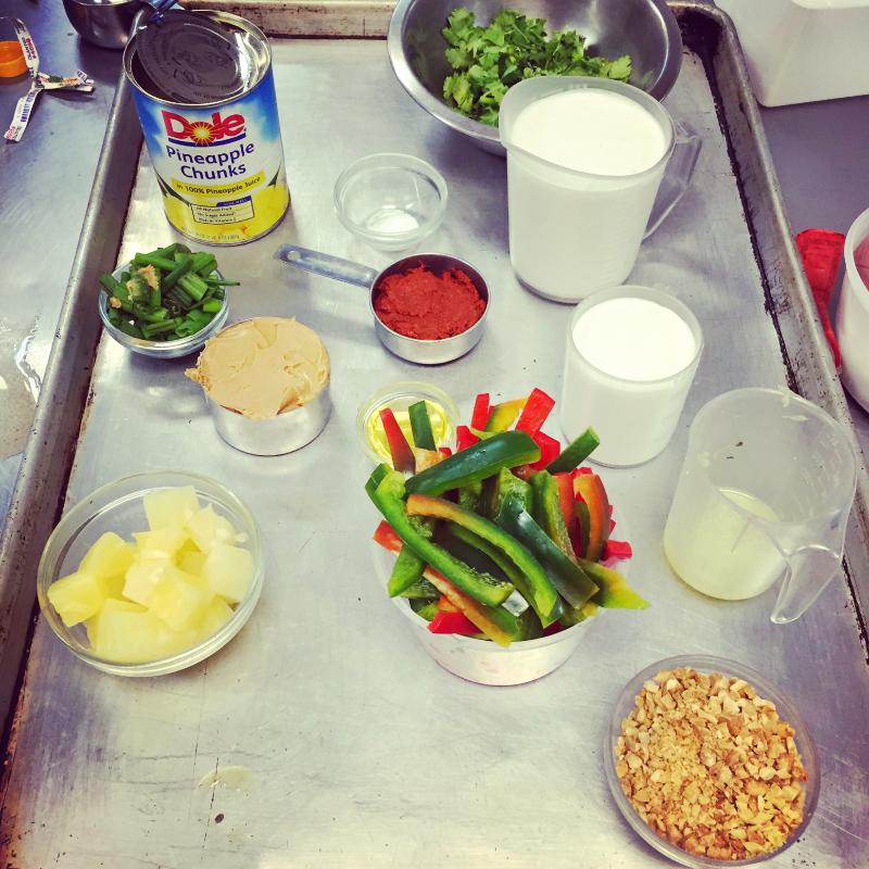 making curry, cambridge culinary instittute  (sonya kovacic)