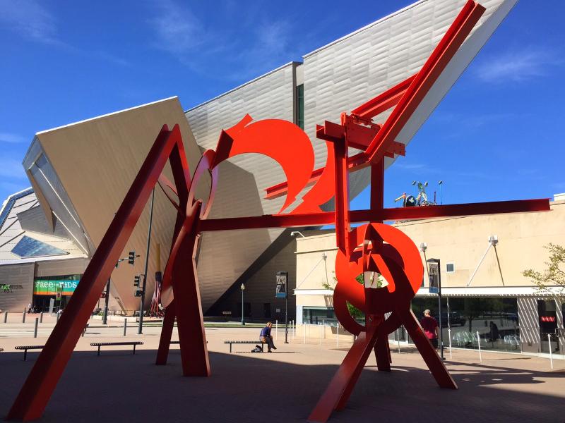 sculpture: laotzuoutside denver museum of art   (sonya kovacic)