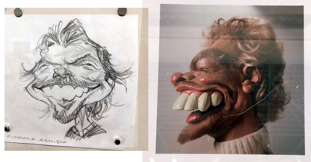 SRB himself from sketch to sculpture.