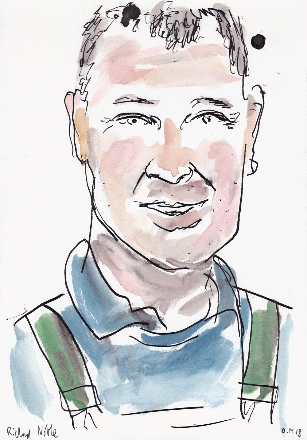 Richard Noble – a portrait I drew whilst in conversation