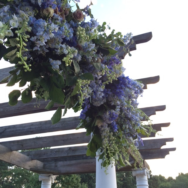 We turned an existing pergola at the venue into a chuppah for the traditional Jewish ceremony.