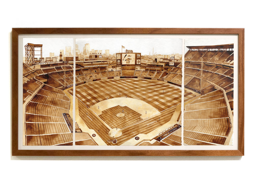 "TURNER FIELD  Chicago Cubs v Atlanta Braves June 12, 2016 ink, 30"" x 15"" Cubs 13 - Braves 2 Upper Box 401, Row 14, Seat 101"