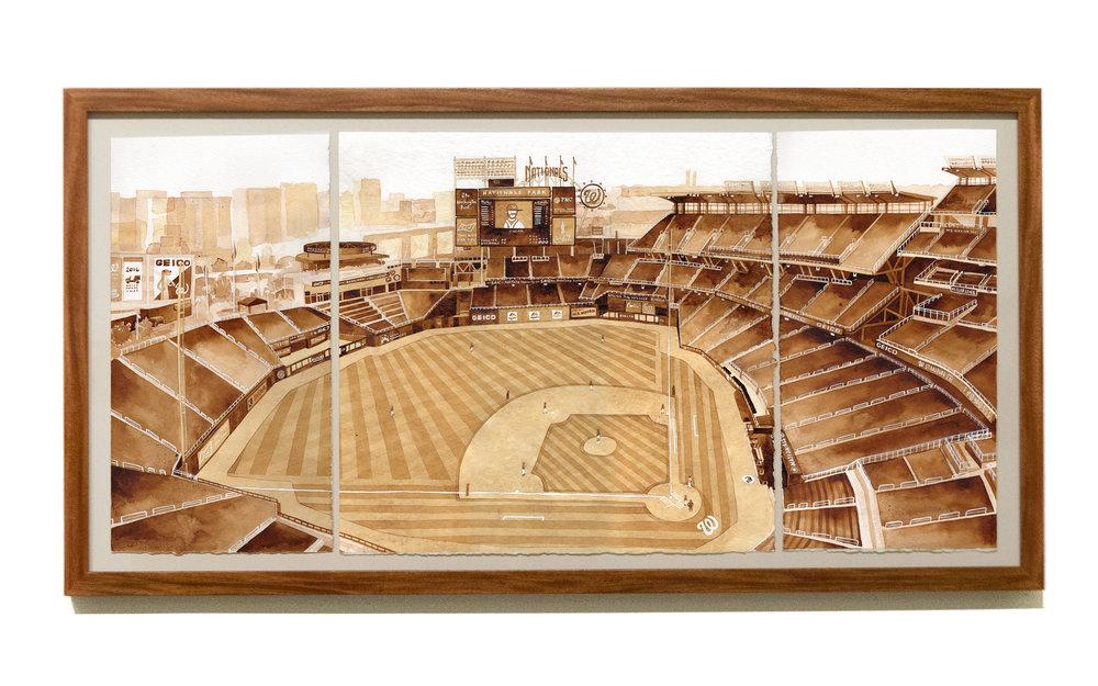 "NATIONALS PARK  Philadelphia Phillies v Washington Nationals, June 10, 2016 ink, 30"" x 15"" Phillies 6 - Nationals 9 Section 409, Row K, Seat 15"