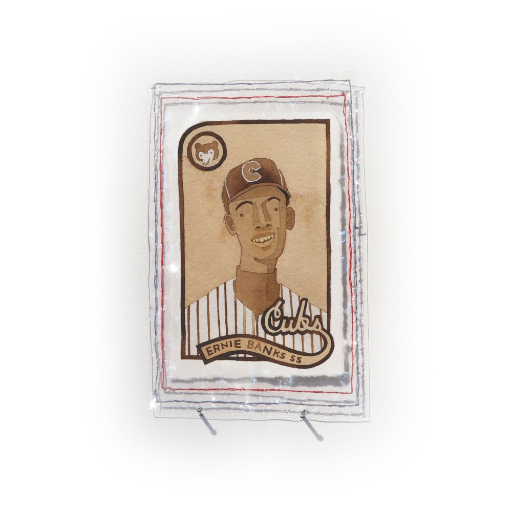 Ernie Banks of the Chicago Cubs