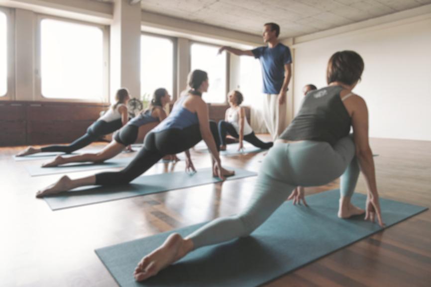 Yoga Class Defocused
