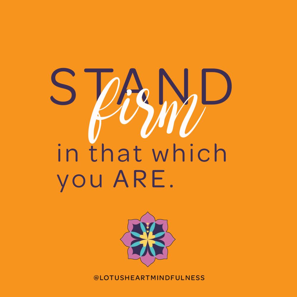 kabir stand firm poem