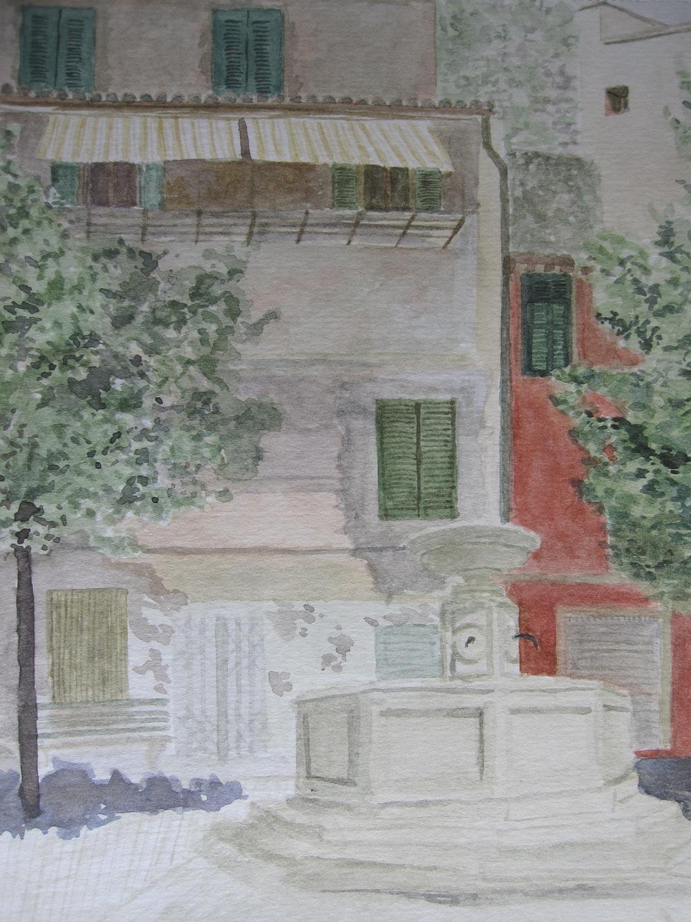 """7""""x9"""" 2009 watercolor"""