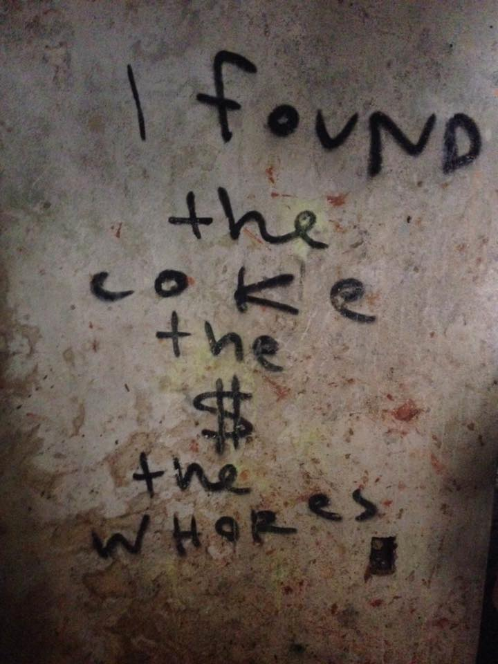 We found this graffitied to a wall in Pablo Escobar's old country home