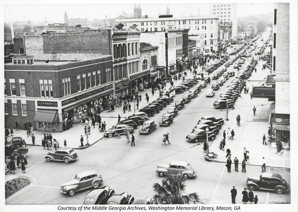 Downtown Macon, GA in 1948