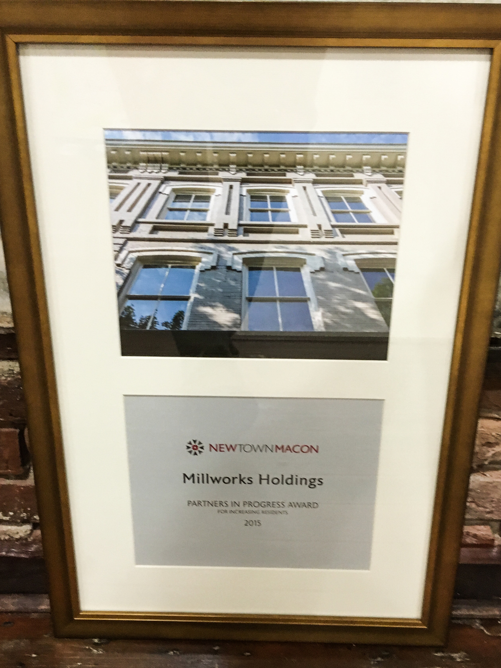Millworks Holdings Partner in Progress Award