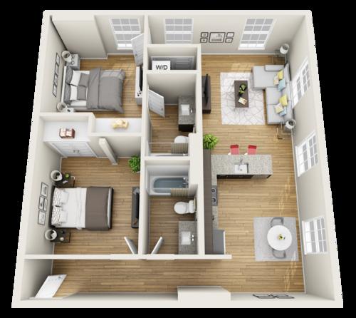 2 Bedroom Apartments in Macon GA The Lamar