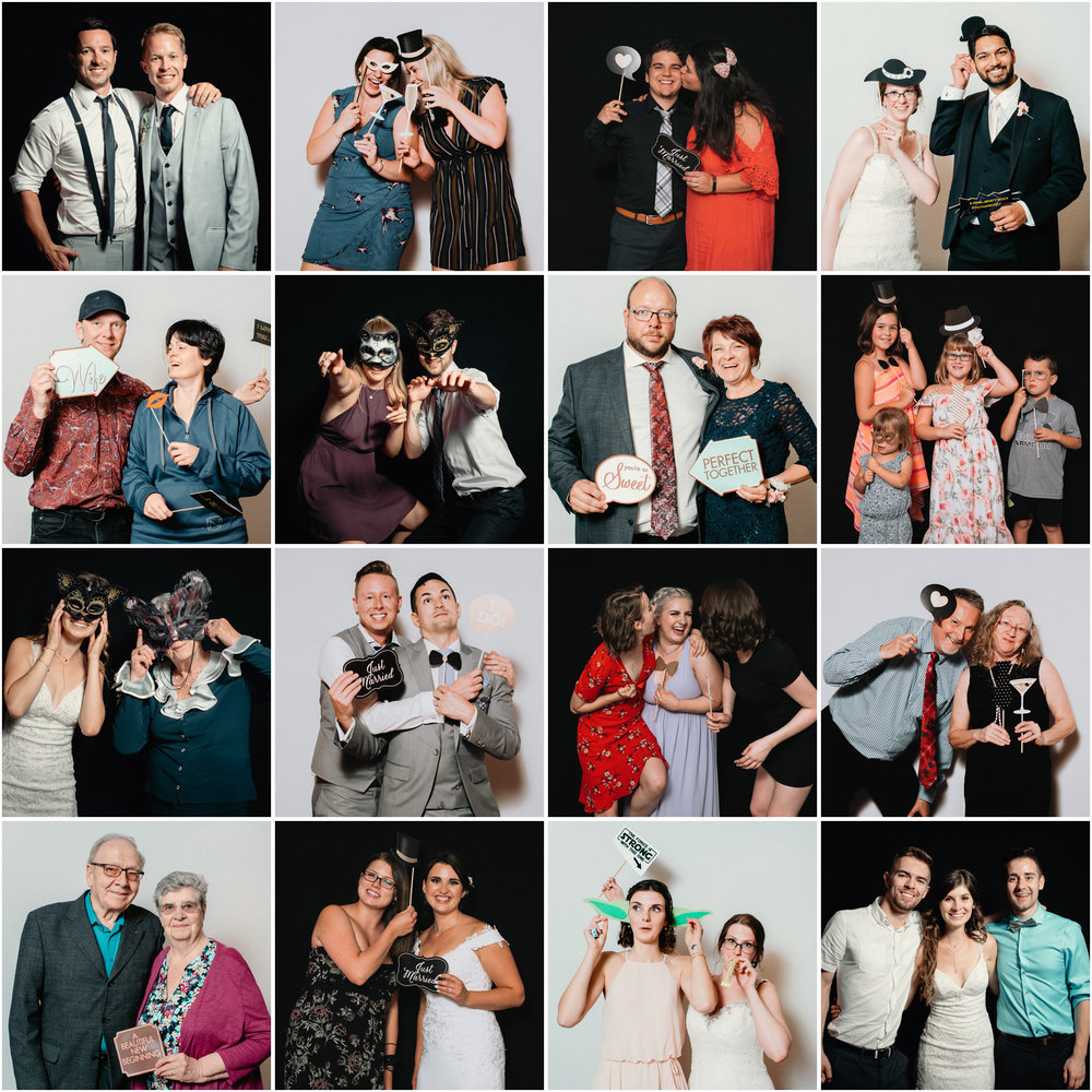 Want a fun way to interact with your guests and create some memories? Add a 1 hour Photo Booth to your reception. We provide stick props but you are welcome to provide your own. A digital gallery will be sent to you within 48 hours of your wedding day to share with your guests.  Photos are not printed on site. -