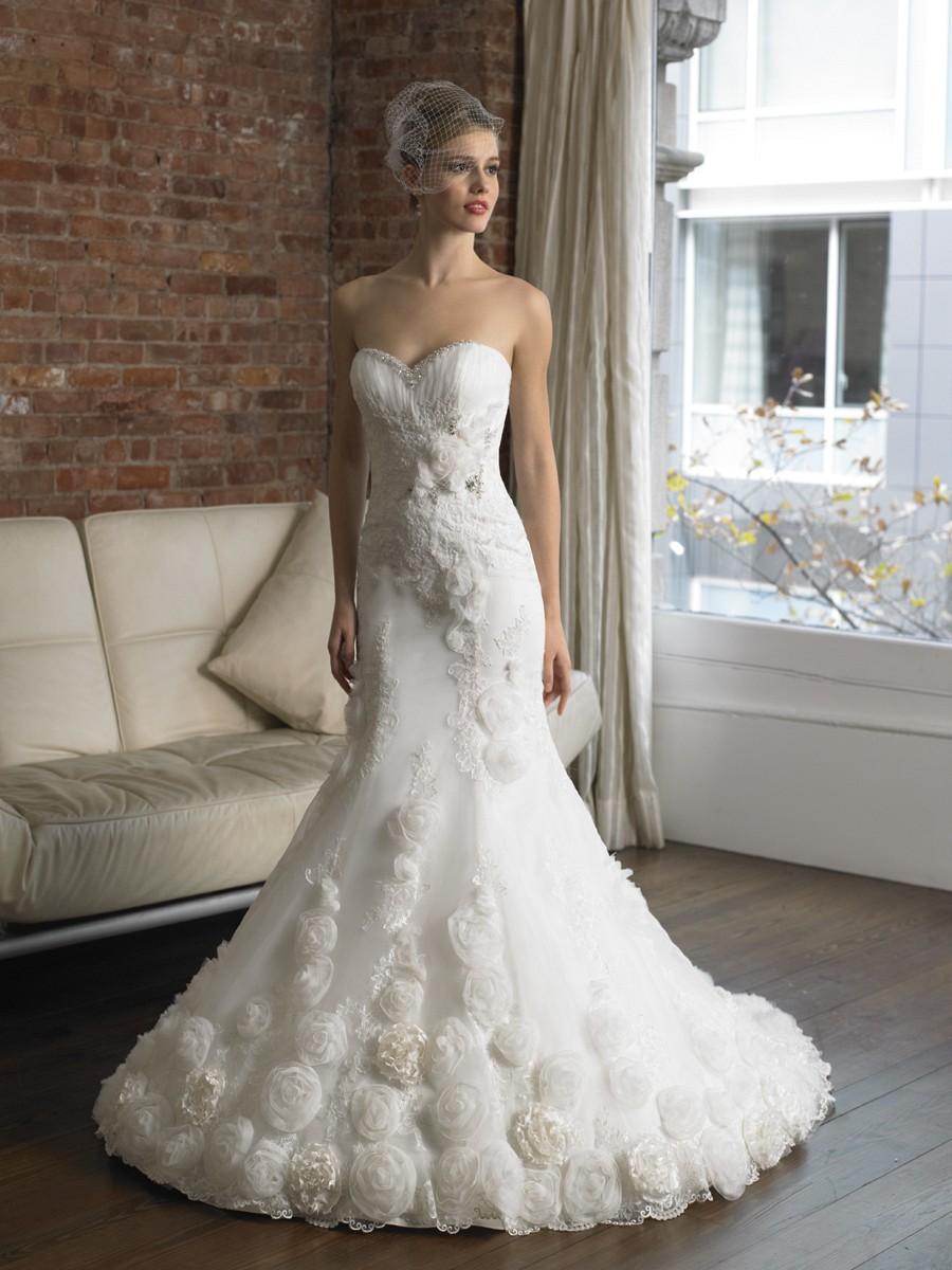 Crystal Organzatulle Sweetheart Mermaid Wedding Dress