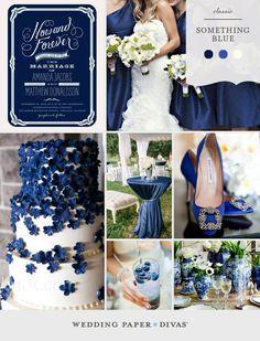 Tone on Tone Blue Wedding