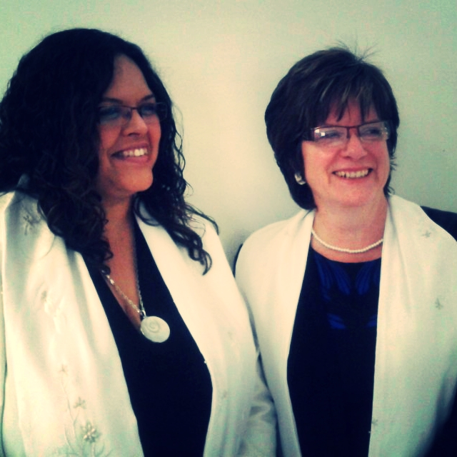 Darcelle Runciman (Infinity Centre) and I after our ordination