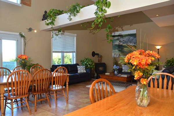 Inviting dining space where together we will share lunch and dinner.