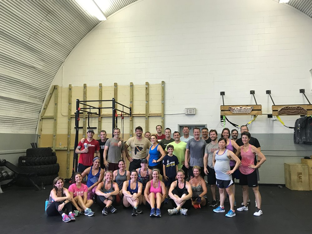Wow, so awesome today! Definitely glad that I didn't post the workout first... May have had some skippers. But all that were there had fun, maybe Capital F fun and not going to the movies but fun non the less. Thanks everyone for coming. Have a great week and keep crushing it!