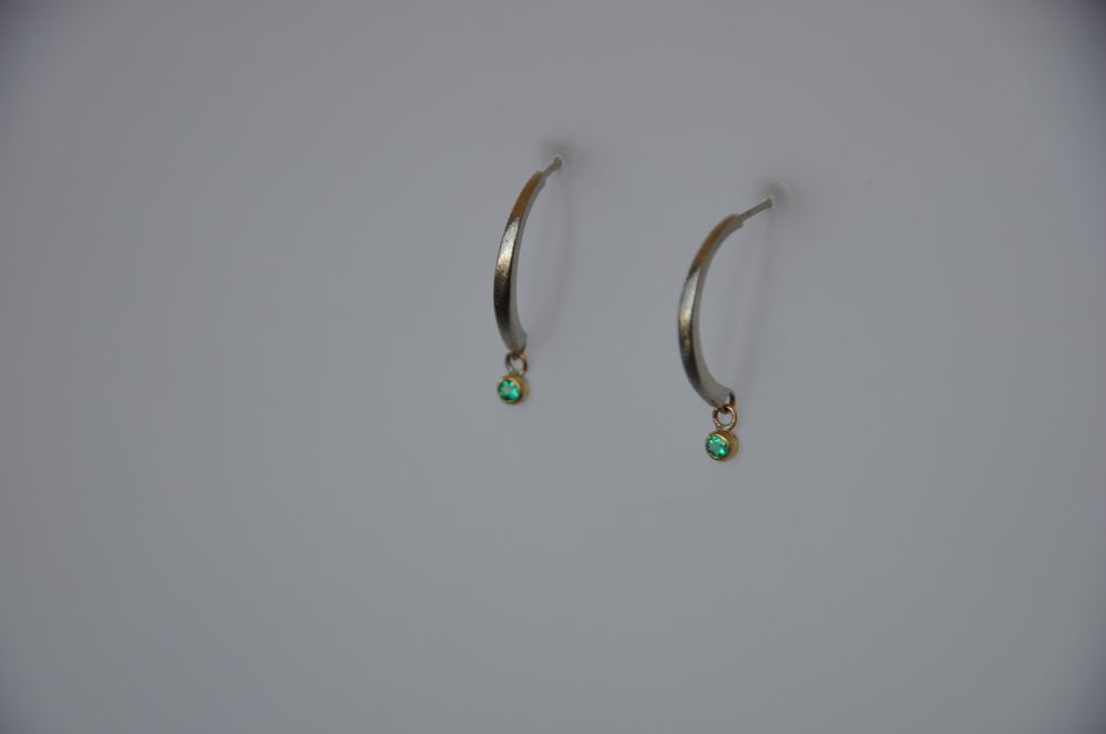 Emerald Drop Earrings - detail