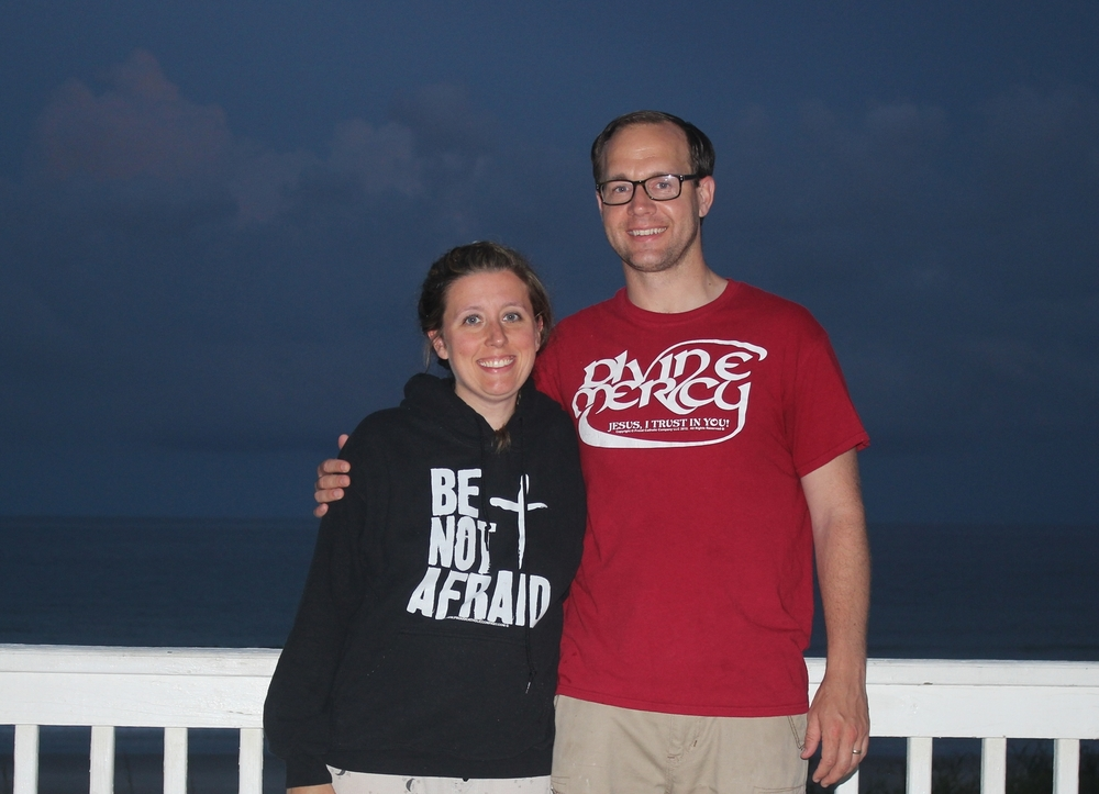 Derek & Jennifer Nelson sporting their PCC gear.