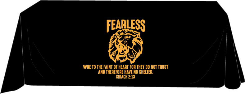 Fearless Ministries   6' table cover.
