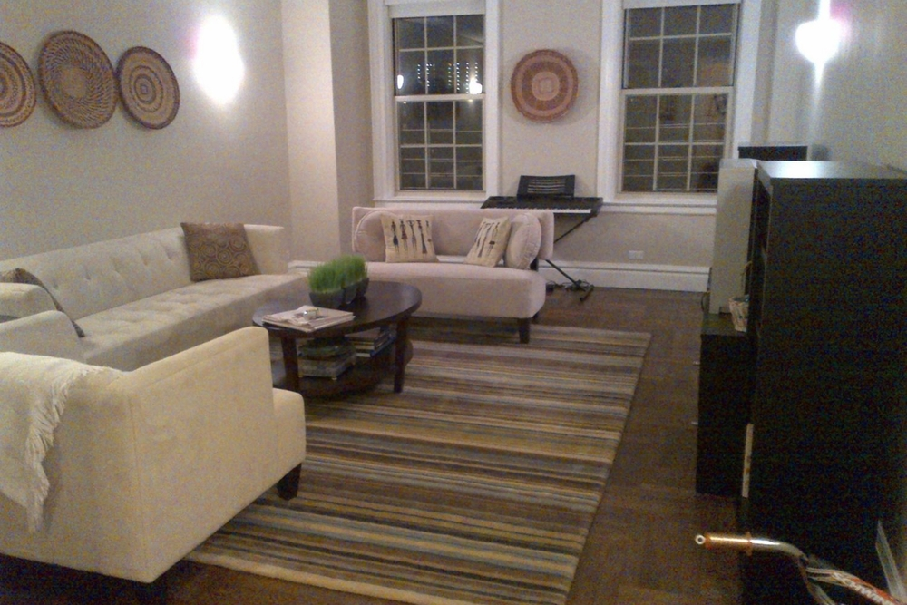 Living Room Before Manhattan Staging
