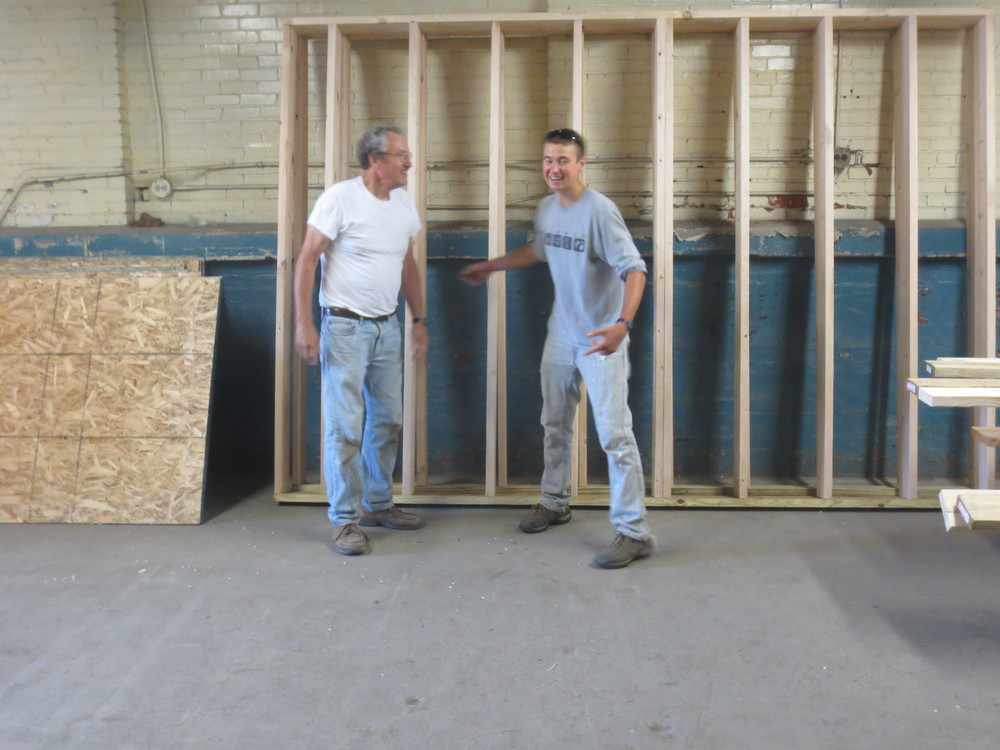 Bill and me in front of Walls 1 and 2.