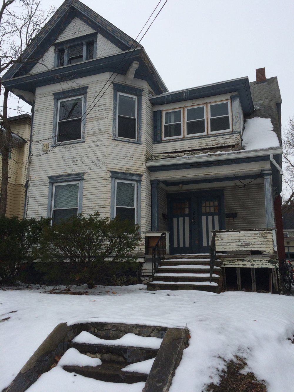 A Tiny Home for Good recently acquired this beaut in Syracuse's Westside. The two family home will be rehabbed over the winter and offered to families facing homelessness.