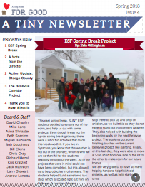 Spring 2018 - Read about our most recent project at Bellevue, our upcoming project in Otsego County, how we spent our spring break, and a thank you to Huen Electric for making what we do possible.