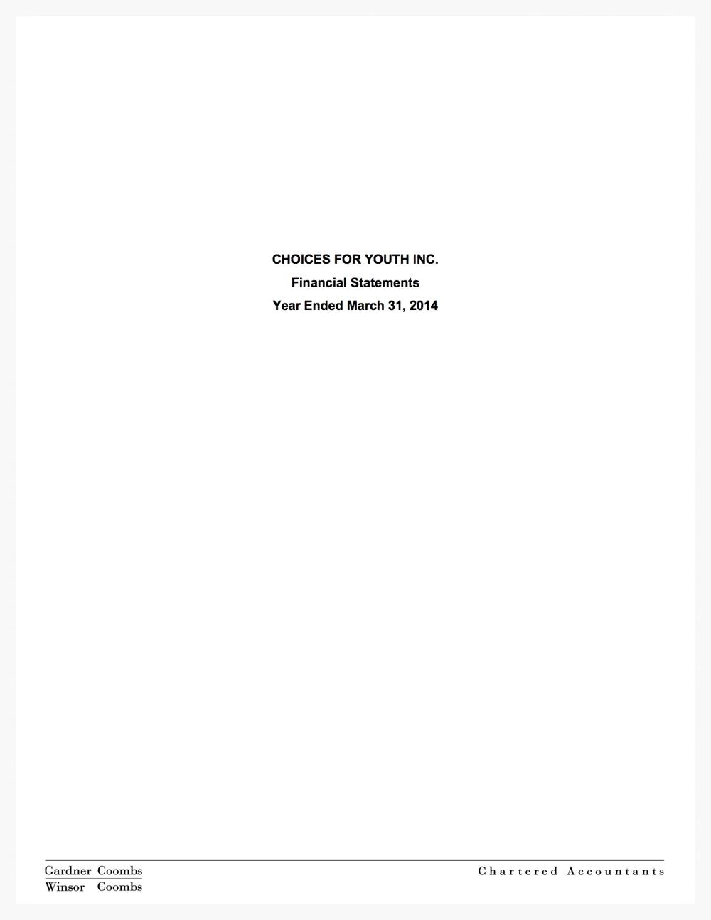 Audited Financials 2013/14