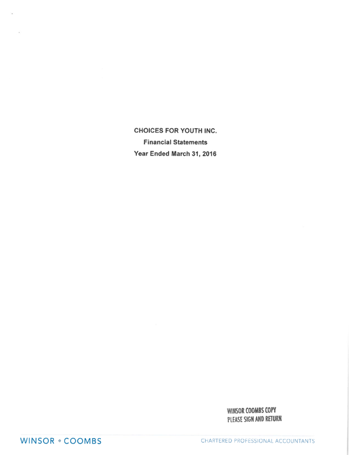 Audited Financials 2015/16