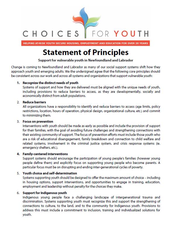 Draft Statement of Principles