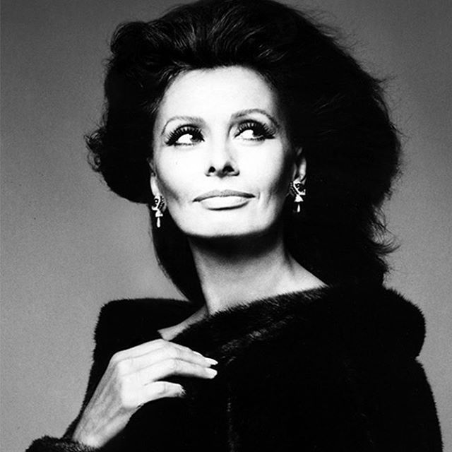 """A woman's dress should be like a barbed-wire fence: serving its purpose without obstructing the view."" -Sophia Loren 📷: Bill King 