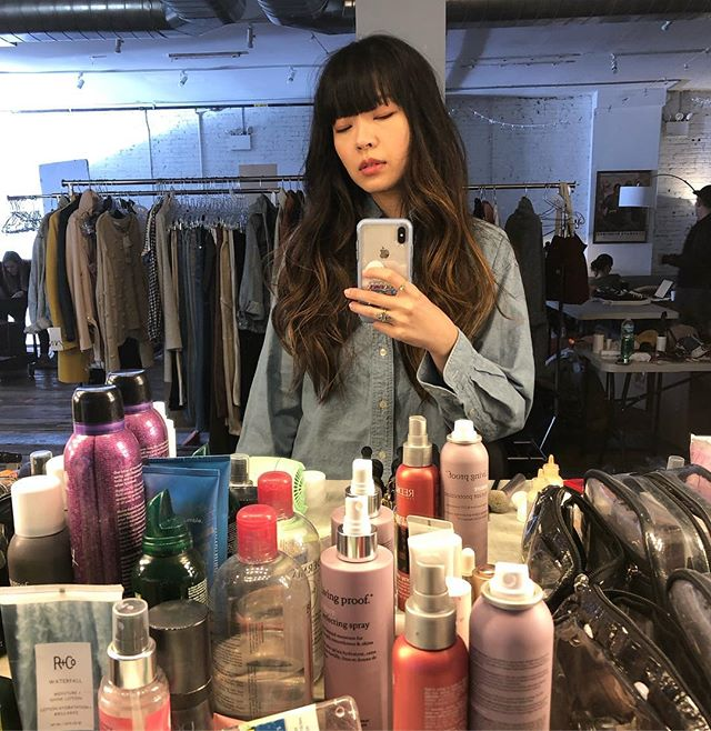 Love this hair and makeup 🥰 #setlife #xiaowang