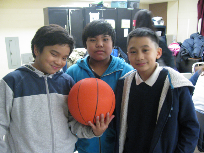 Some of our Grade 7 boys