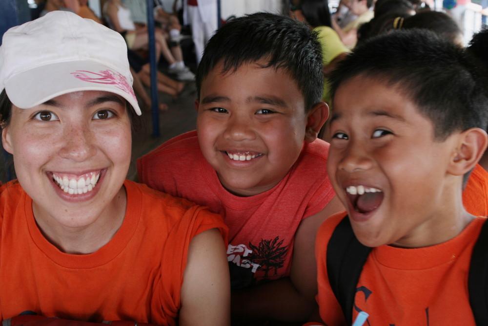 Jennifer with TCM kids, 2010