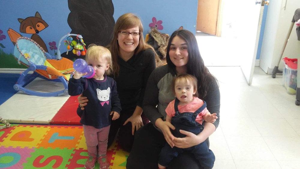 Sara (right) with volunteer tutor Leah (left)