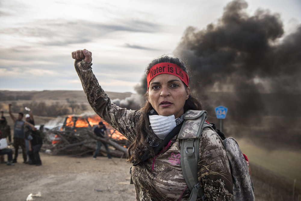 A field medic at the Oceti Sakowin protest camp. Credit:  Avery White