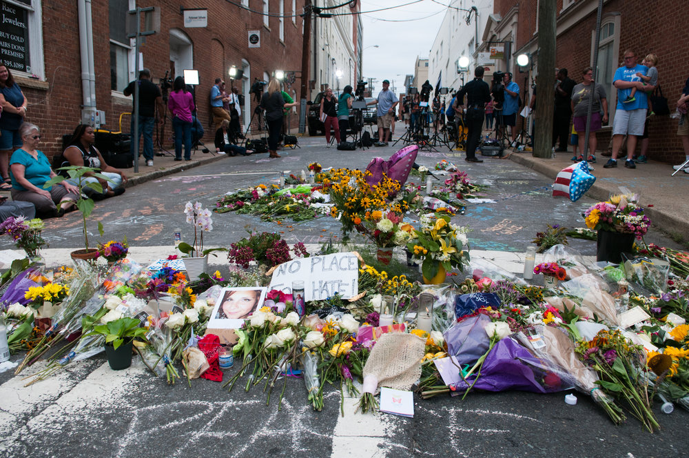 Memorial to Heather Heyer. Photo: Bob Mical/Flickr