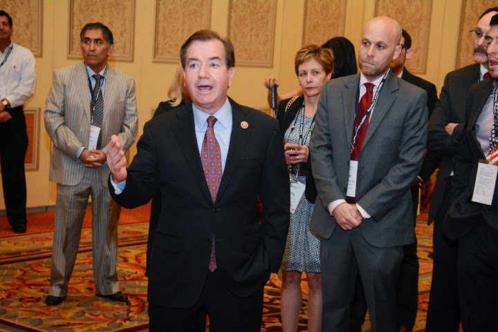 Republican Rep. Ed Royce introduced the amended version of the Israel Anti-Boycott Act. Photo: Pablo Kleinman/Flickr.