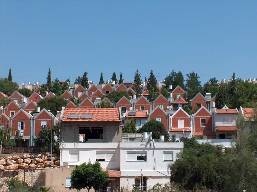 An Israeli settlement in the West Bank.