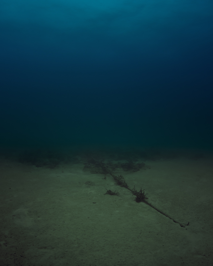 An undersea cable off Miami. (Photo courtesy Trevor Paglen and Metro Pictures Gallery)