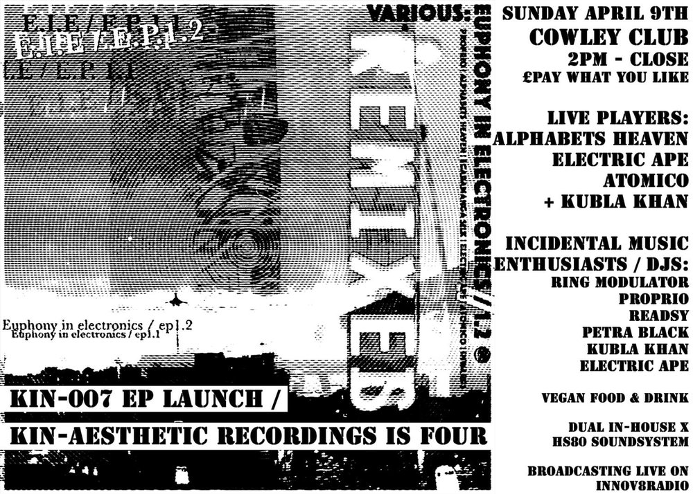 E.I.E.1.2 EP Launch Brighton Flyer