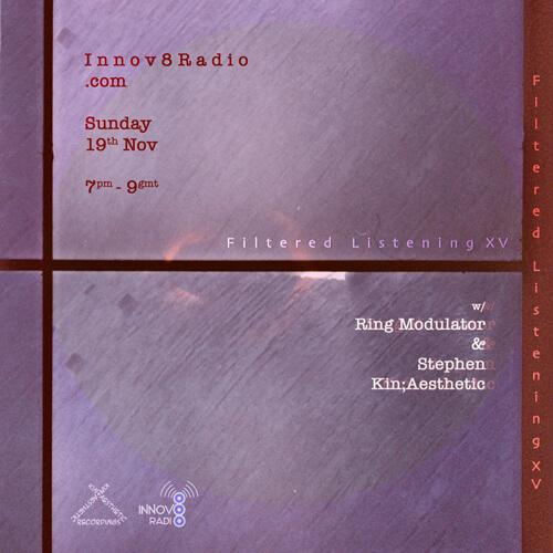 Ring Modulator & Stephen Kin;Aesthetic Nov 2017. 1. Hot 8 Brass Band - Can't Nobody Get Down (Alphabets Heaven Remix) [2017, Tru Thoughts] {S;K} 2. Heatwave - Goin' Crazy [1981, GTO] {S;K} 3. Alec Mansion - Ou Est Tu [1982, WEA] {RM} 4. Steve Cobby - Rick James Dwells In The Abyss [2017,Déclassé Recordings] {RM} 5. Felix Da Housecat - Silver Screen Shower Scene (Thin White Duke Remix) [2002, City Rockers] {S;K} 6. Ruth - Polaröid / Roman / Photo [2010 Re, Angular] {S;K} 7. Charlotte Gainsbourg - Im A Lie [2017, Because] {RM} 8. The Belbury Circle - Heading Home (2017, Ghostbox] {RM} ...