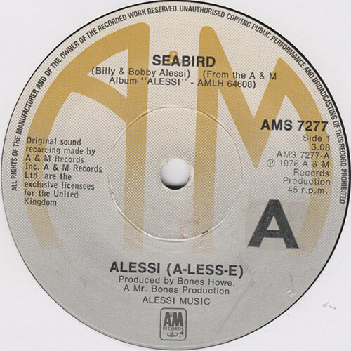 Alessi Brothers – Seabird [1976, A&M]